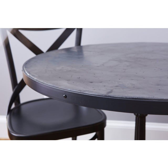 French French Zinc Top Bistro Table For Sale - Image 3 of 12