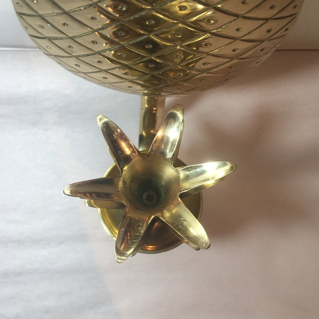 Brass Pineapple Sconce - Image 6 of 6