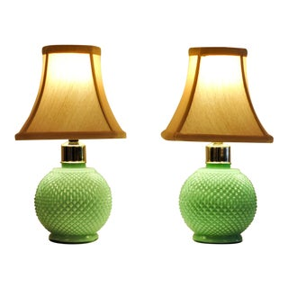 Mid Century Art Glass Table Lamps - a Pair For Sale