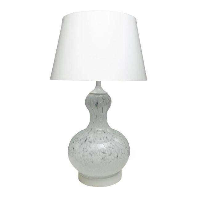 Attractive Murano Glass Table Lamp with Custom Shade For Sale