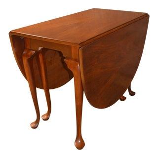 Vintage Drexel Solid Cherry Queen Anne Gate Leg Drop Leaf Table