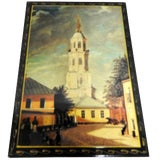 Image of Cathedral at the Kremlin Russian Lacquer Box For Sale
