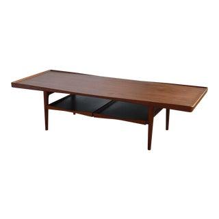 1960s Danish Modern Poul Jensen for Selig Teak Coffee Table For Sale