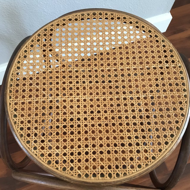 Vintage Bentwood and Cane Ottoman - Image 4 of 5