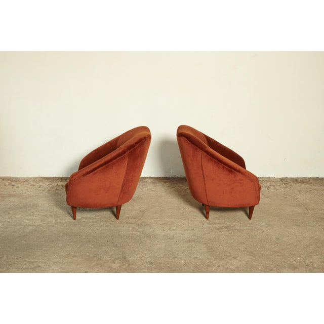 Ico Parisi Pair of Federico Munari Lounge Chairs Italy, 1960s For Sale - Image 4 of 8