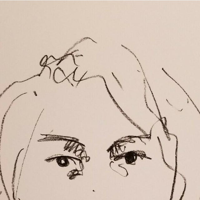 Up for sale: A one-of-a-kind sketch drawing by impressionist artist Jose Trujillo. Measurements: 13 x 19 inches Medium:...