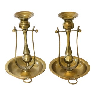 Pair of Ship Candlesticks For Sale
