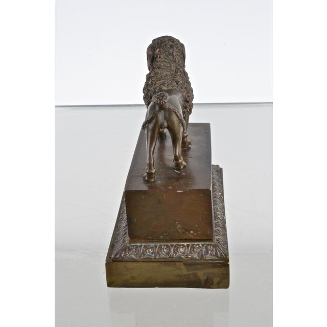 Bronze Bronze Poodle Inkwell, France 19th Century For Sale - Image 7 of 12