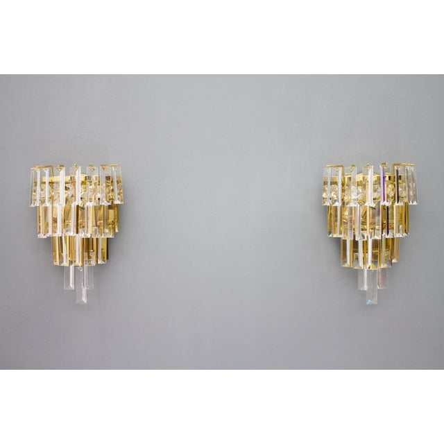 Pair of Crystal Glass Wall Sconces by Palwa, Germany, 1960s For Sale - Image 9 of 9