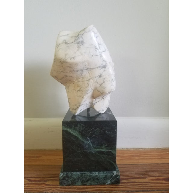 Abstract 1986 Abstract Marble Sculpture For Sale - Image 3 of 6