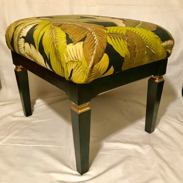 Mid 20th Century Small Neoclassical Style Rectangular Bench For Sale - Image 5 of 5