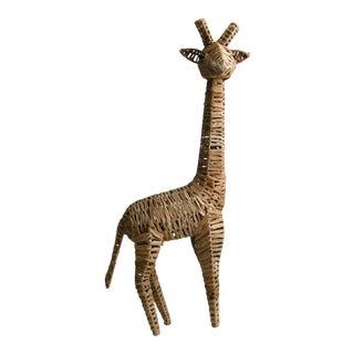 Vintage Seagrass Giraffe For Sale