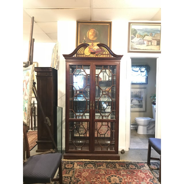 Traditional Mirror Back China Cabinet For Sale - Image 9 of 9