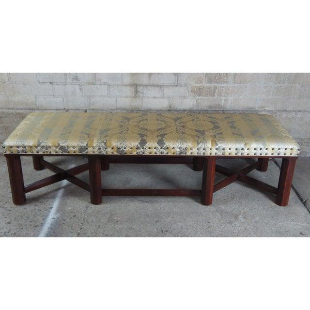 Hickory Chair Mark Hampton Thomas O'Brein Trestle Bench For Sale - Image 11 of 13