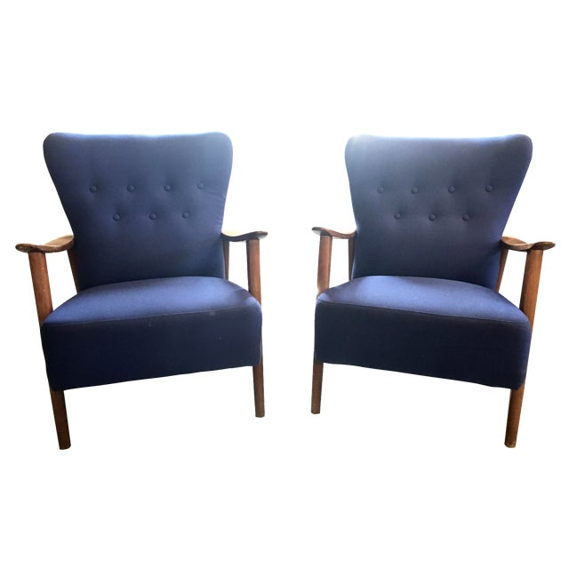 Danish Mid-Century Modern Loungers - A Pair - Image 1 of 3