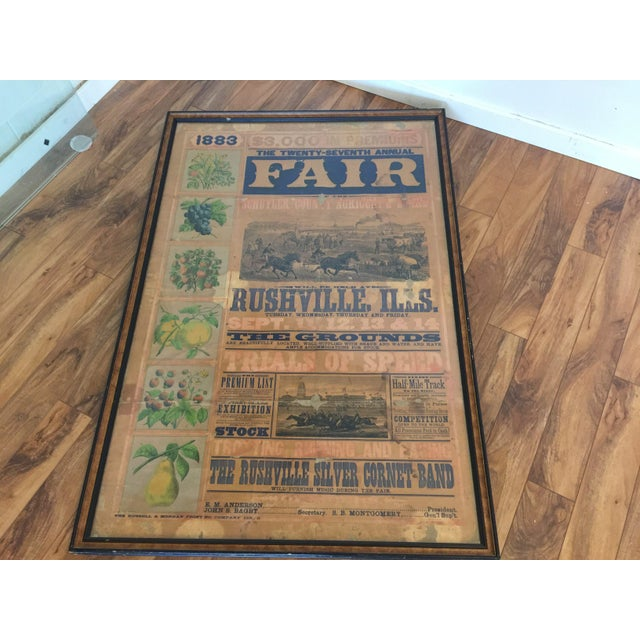 Morgan Printing Co. 1883 County Fair Poster - Image 2 of 11