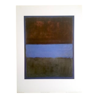 "Vintage Mark Rothko Abstract Lithograph Print Exhibition Poster "" No. 61 "" 1953"