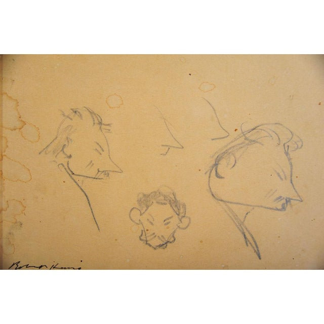 "Robert Henry ""Caricature Faces"" Pencil & Ink - Image 3 of 6"