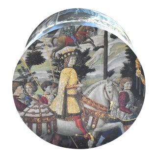 Vintage Italian Renaissance Il Papiro Benozzo Gozzoli Hat Box For Sale