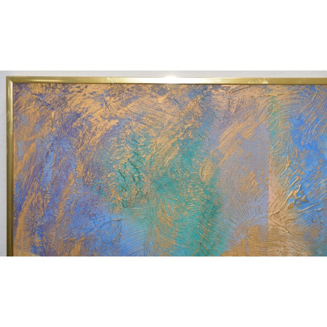 Mid 20th Century Lee Reynolds Vanguard Studios Mid Century Abstract Oil Painting C.1960s For Sale - Image 5 of 8