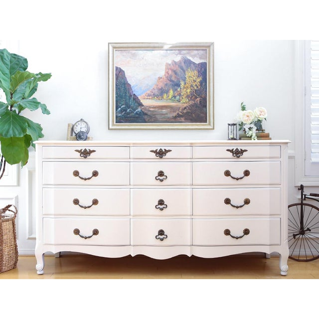 Shabby Chic French Provincial Vintage Dresser - Image 2 of 10