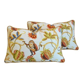 "P. Kaufmann Bazaar Paradise Animal Feather/Down Pillows 26"" X 17"" - Pair For Sale"