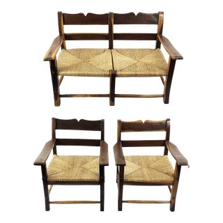 Midcentury Livingroom Set in the Style of Clara Porset- 3 Pieces For Sale