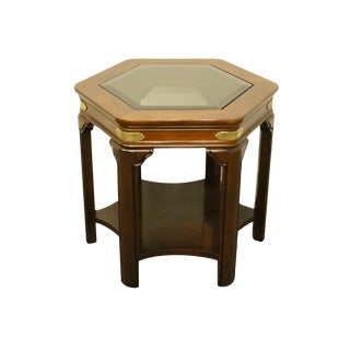 20th Century Chinoiserie Gordon's Furniture Hexagonal Accent End Table For Sale