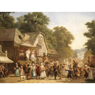 A Celebration in the Village, by Jan Jacob Broos, 1833-1882 For Sale