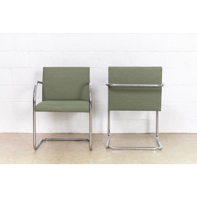 Mies Van Der Rohe Green Brno Chairs For Sale In Detroit - Image 6 of 11