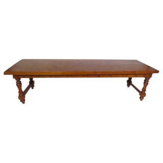 Cherry Wood Dining Table For Sale