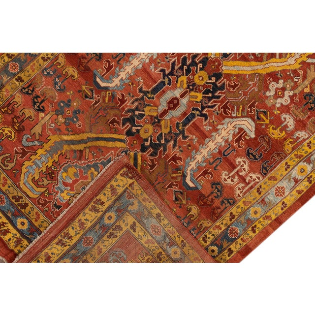 "Late 20th Century Vintage Persian Tribal Bakshaish Rug, 7'6"" X 10'5"" For Sale - Image 5 of 10"