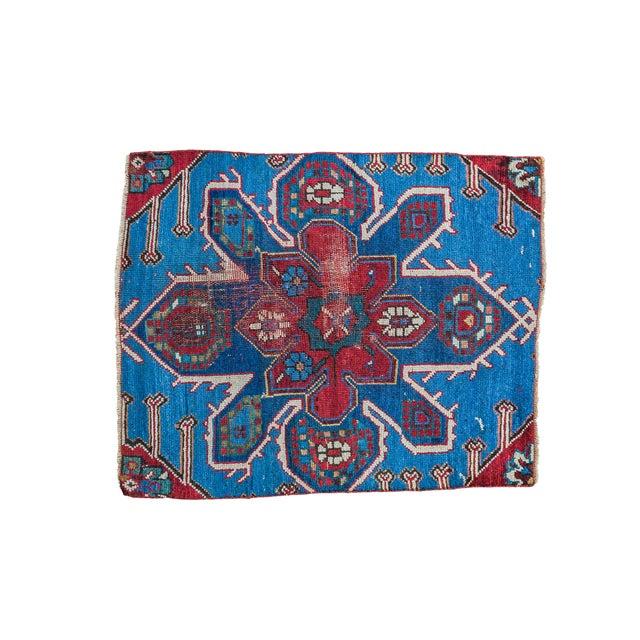 """Antique Caucasian Rug Mat Fragment - 2'5"""" x 2'11"""" - Image 1 of 5"""