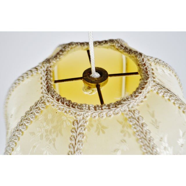 Late 20th Century Vintage Victorian Style Bell Shaped Fringe Lamp Shade For Sale - Image 5 of 13