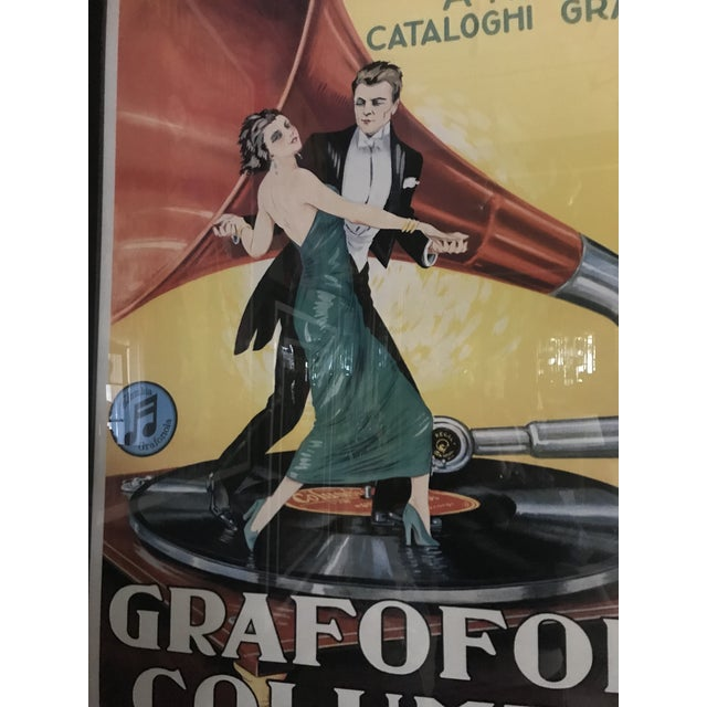 Acrylic Vintage Grafofoni Columbia Poster - Framed For Sale - Image 7 of 9