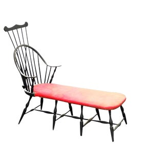 Vintage Windsor Chaise-Form Bench For Sale