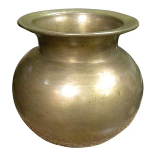 Mid-Century Brass Urn For Sale