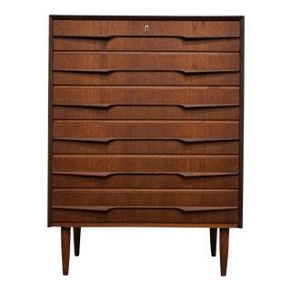 """Danish Mid Century Teak Dresser - """"Ensomheden"""" For Sale"""