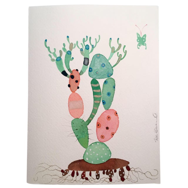 """""""Picasso Cactus"""" Watercolor Painting - Image 1 of 3"""