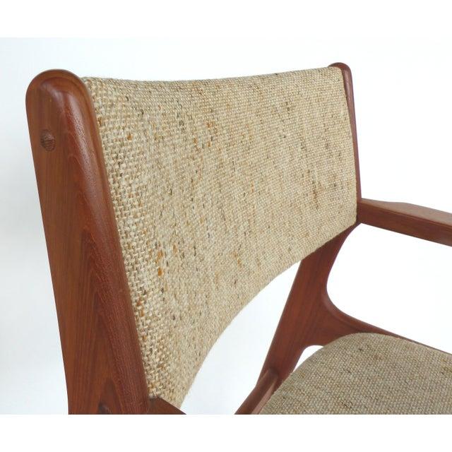 Scandinavian Modern Teak Armchairs - a Pair For Sale - Image 12 of 13