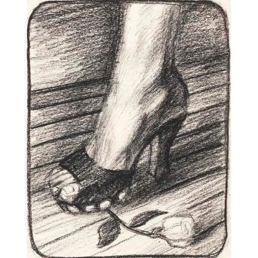"Hugh Steers ""Studs"" Graphite Drawing - Image 3 of 3"