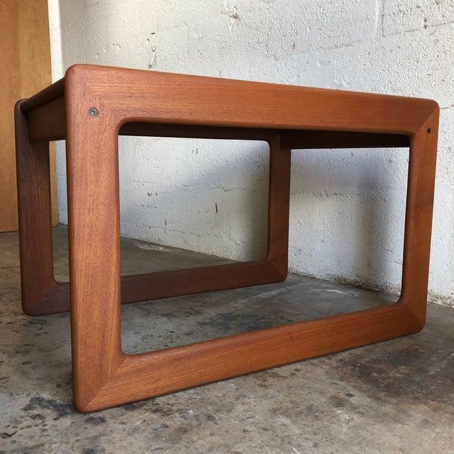 Vintage Mid Century Modern Danish Side Table by Komfort Furniture For Sale - Image 9 of 11