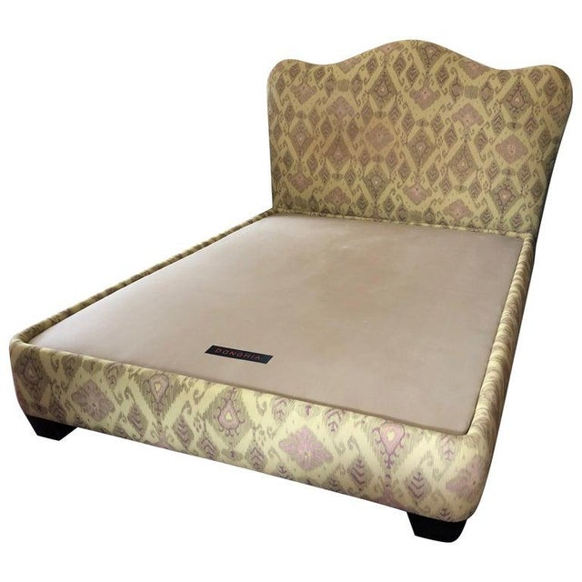 Contemporary Donghia Uphostered Platform Queen Size Bedframe For Sale - Image 10 of 10