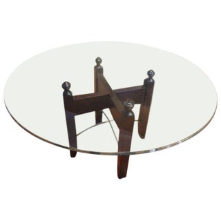 Glass Halo Dining Table With Pedestal
