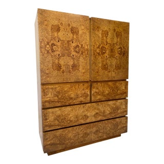 Vintage Burl Armoire by Lane For Sale