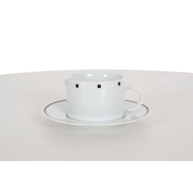 David Ehrenreich Coffee Cups and Saucers for Sasaki - Set of 9 For Sale - Image 4 of 6