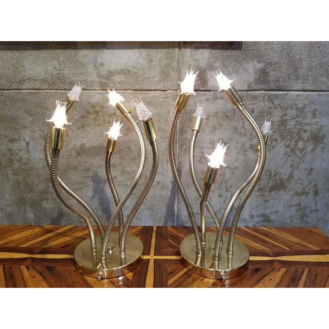 Mid-Century Modern Sputnik Table Lamps by Robert Sonneman For Sale - Image 3 of 7