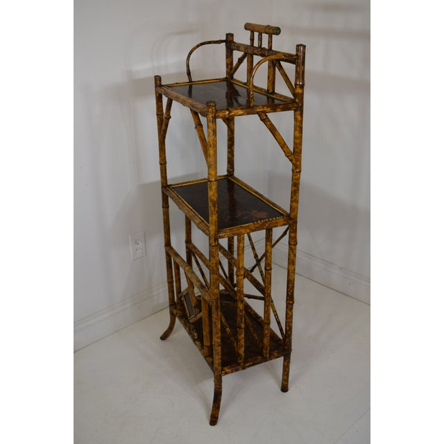 19th-Century Bamboo Book Shelf and Magazine Rack For Sale - Image 6 of 8