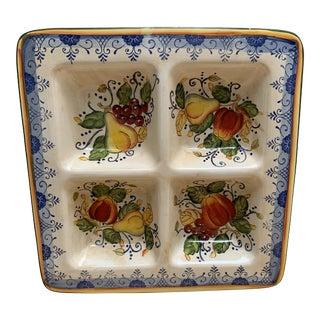 Large Serving or Decor Colorful Ceramic Platter For Sale