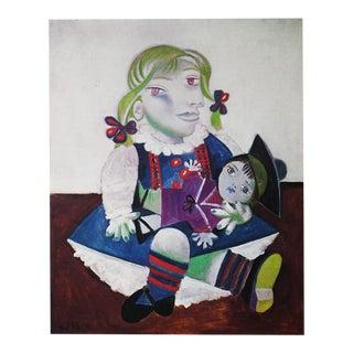 Picasso Portrait De Maya à La Poupée, 1971 Parisian Photogravure